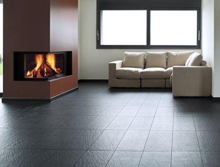 Textured porcelain tiles