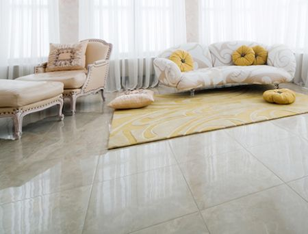 Polished or brushed finish (Marble, Travertine, Granite, Limestone)