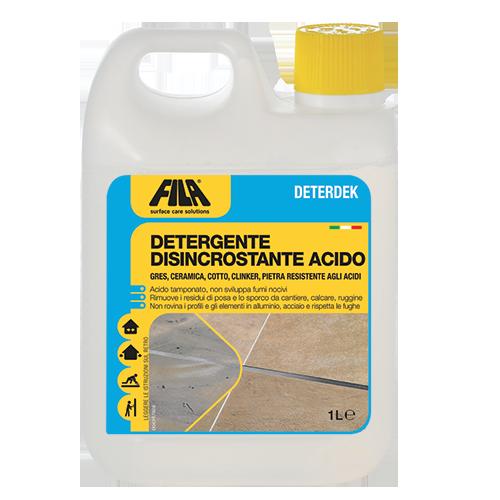 Come Togliere Macchie Di Acido Dal Marmo.Detergente Disincrostante Acido Deterdek Fila Solutions